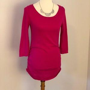Motherhood Maternity- pink ruched sweater
